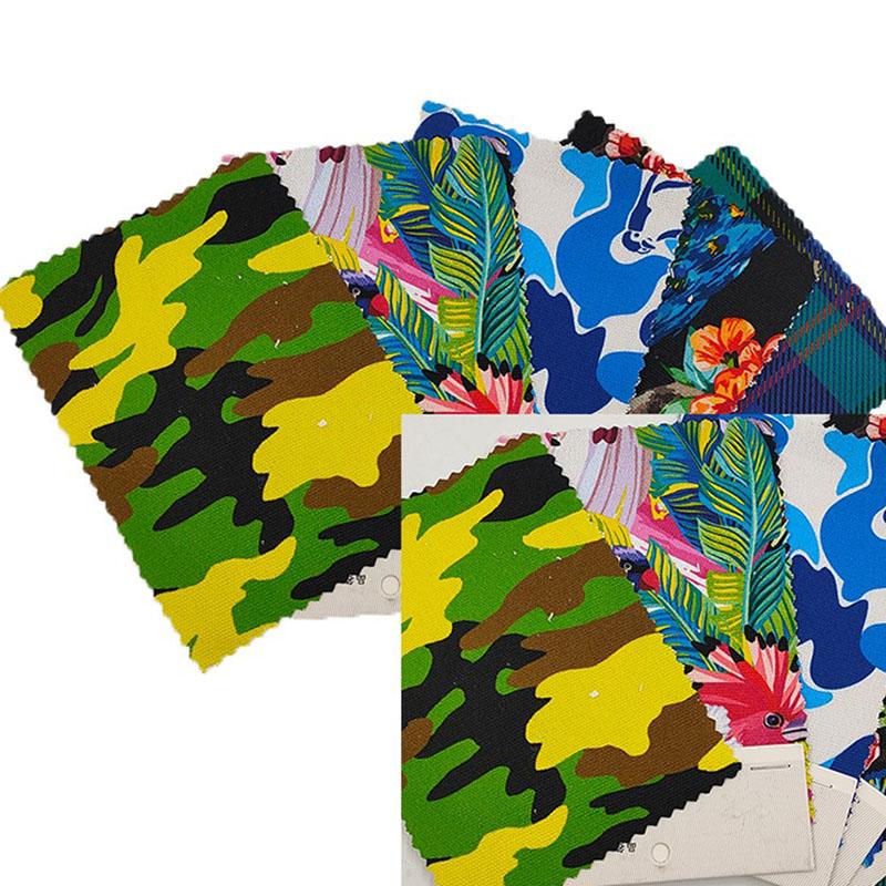 纯棉数码印花迷彩图案